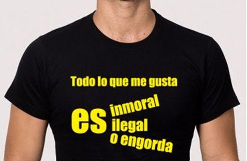 camiseta para despedida sobre la inmoralidad