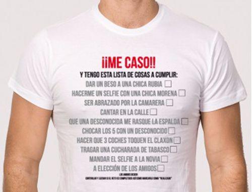 camisetas para despedidas de soltero con retos